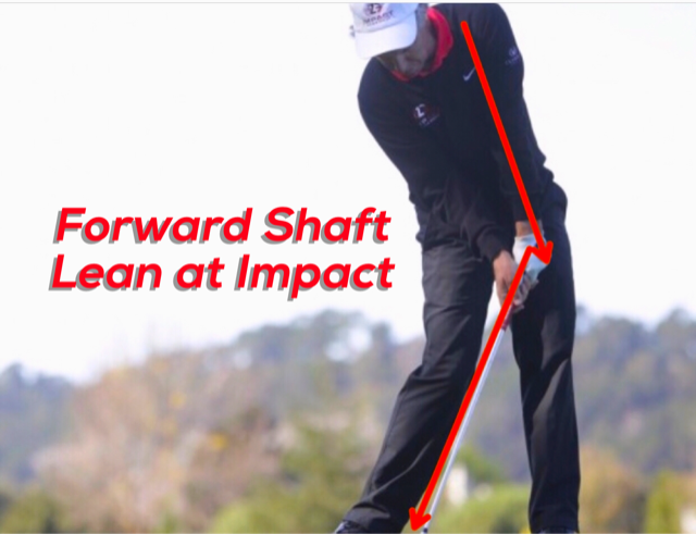 [object object] How Important is Forward Shaft Lean at Impact? Forward Shaft lean 1